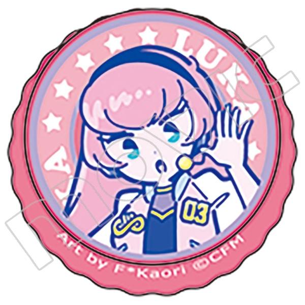 初音ミクシリーズ 王冠缶バッジ 巡音ルカ 80'sレトロアイドル F*Kaori