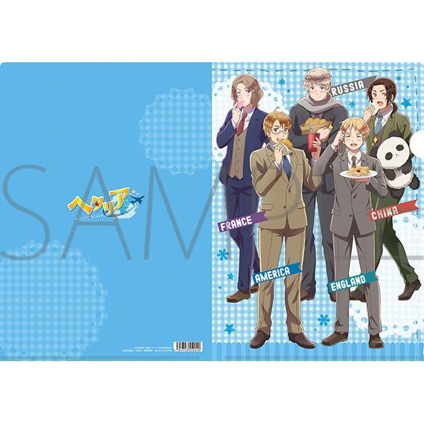ヘタリア World★Stars クリアファイル アメリカ イギリス フランス ロシア 中国