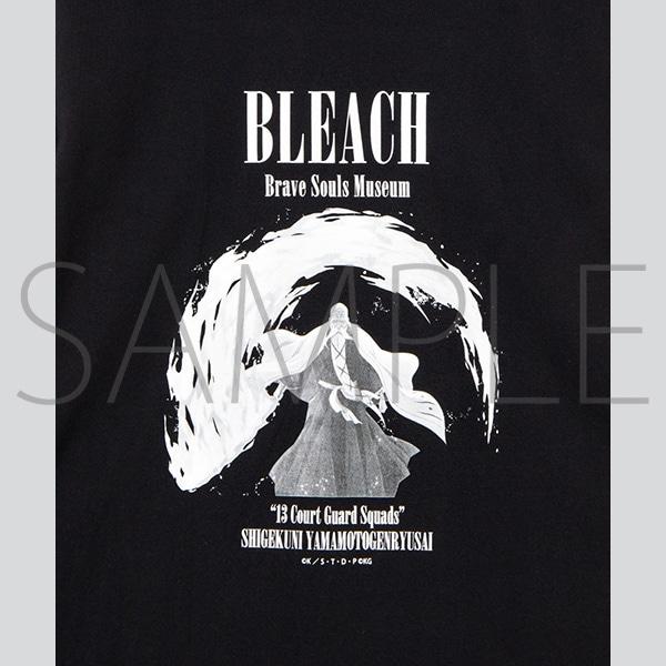 『BLEACH Brave Souls Museum』通信販売 BLEACH Brave Souls Museum コラボロンTEE(山本元柳斎重國) M