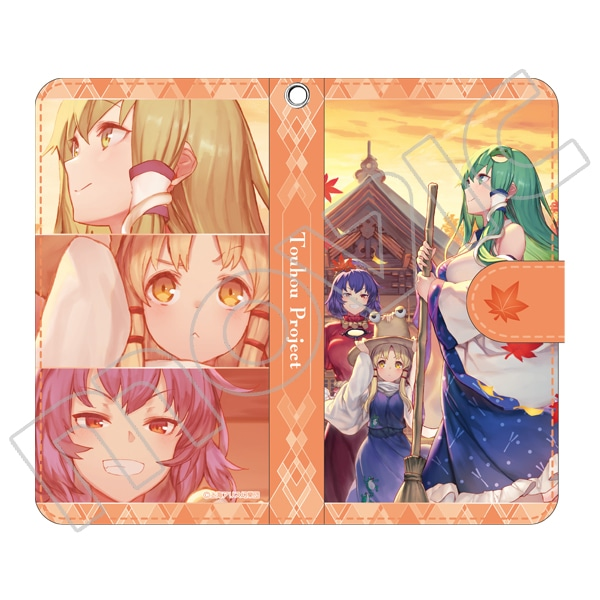 東方Project 手帳型スマートフォンケース 早苗&諏訪子&神奈子