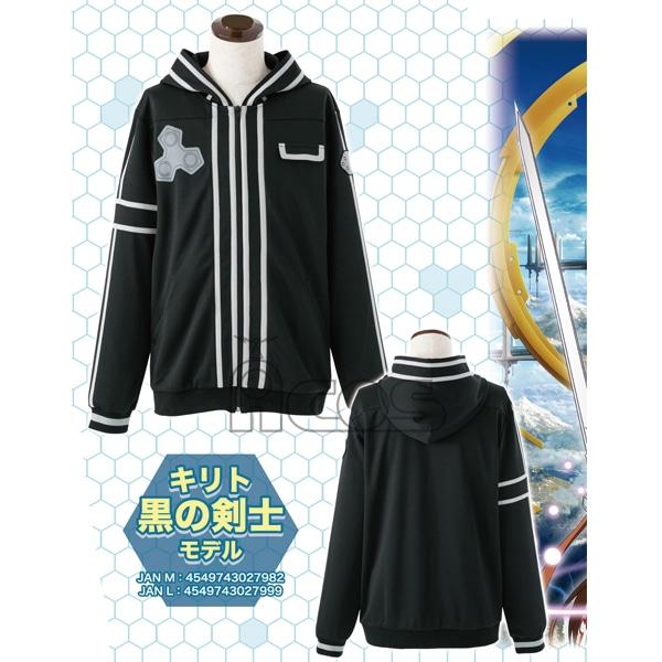 ソードアート・オンライン イメージパーカー キリト 黒の剣士モデル L
