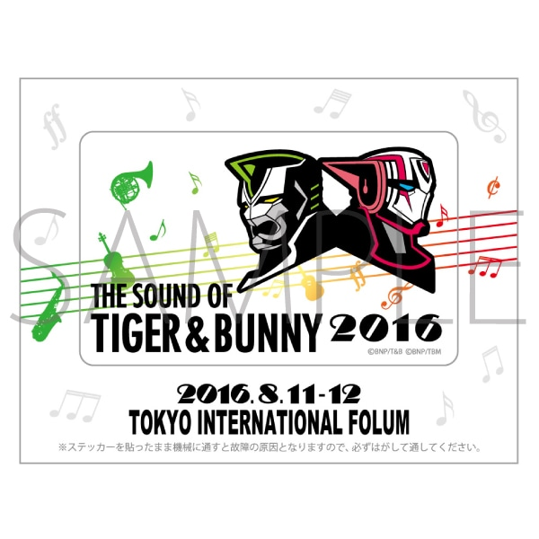THE SOUND OF TIGER & BUNNY 2016/ICステッカー