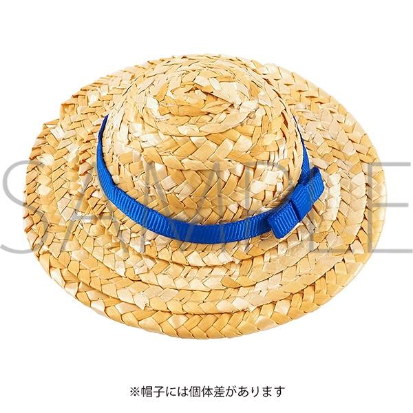 くまめいと 麦わら帽子 ブルー