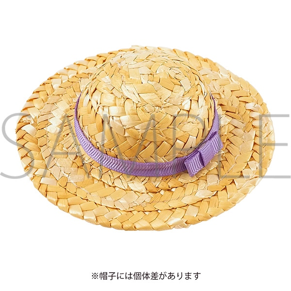 くまめいと 麦わら帽子 パープル