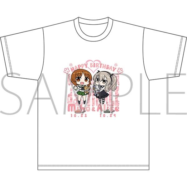 ガールズ&パンツァー最終章 Tシャツ 西住みほ&島田愛里寿バースデー XLサイズ