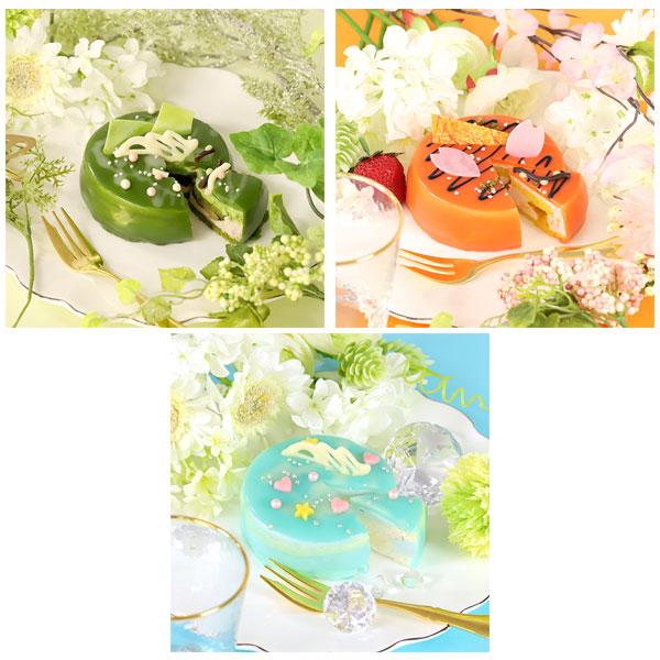 ツキウタ。 ガトールーレコラボケーキ 春セット(弥生春、卯月新、皐月葵のケーキのセット)