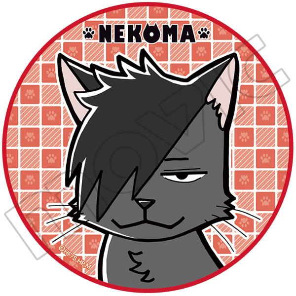 ハイキュー!! 丸型タオル A:音駒黒尾ネコ