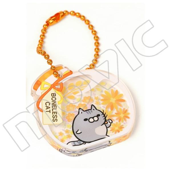 ボンレス犬とボンレス猫 アクリルキーホルダー ハーバリウム ボンレス猫