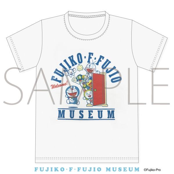 Tシャツ オールキャラA どこでもドア白 Lサイズ 藤子・F・不二雄ミュージアム