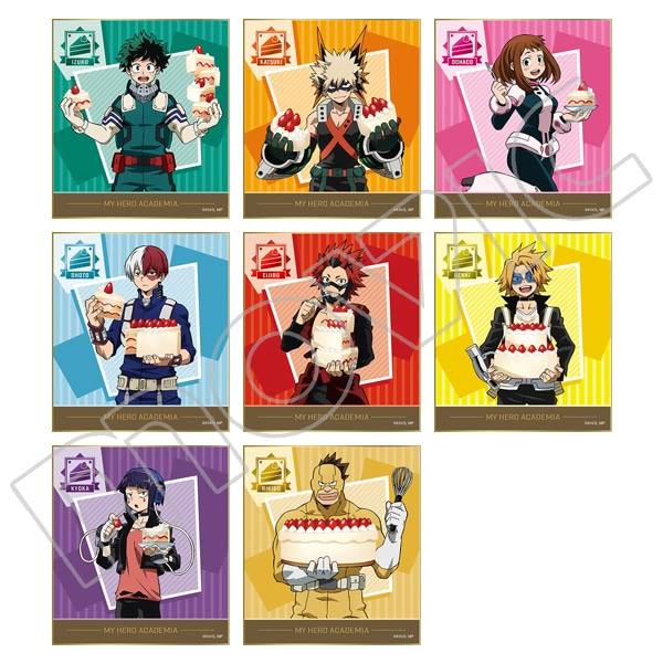 僕のヒーローアカデミア ミニ色紙コレクション バトルケーキ