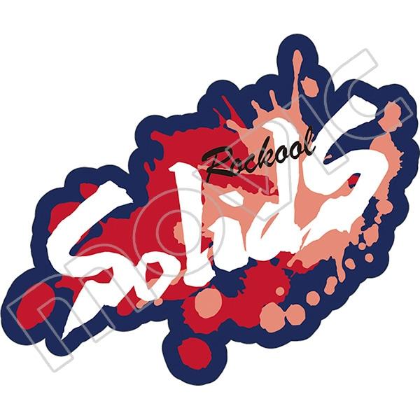 SQ ワッペン風ステッカー SolidS ROCKOOL