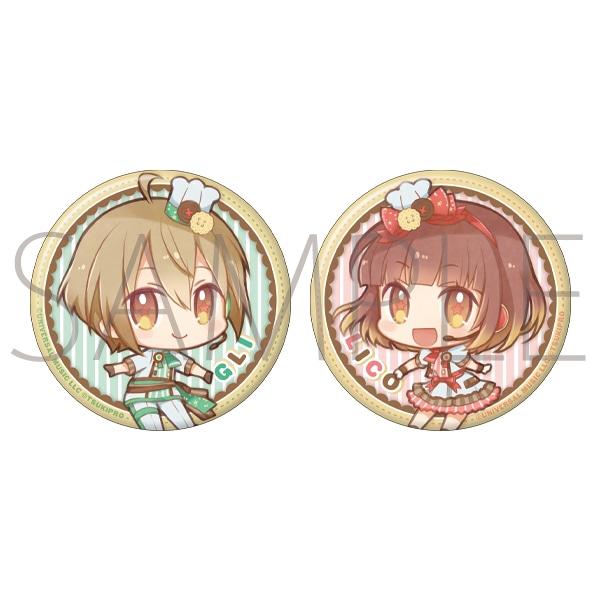ツキプロイラコン 双子の魔法使いリコとグリ Swiiiiiits! 缶バッジセット リコグリ P×M