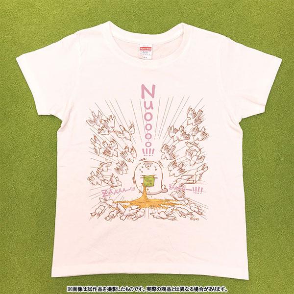 北海の魔獣あざらしさん Tシャツ 女性Mサイズ(専用描き下ろし ハト)【受注生産限定商品】