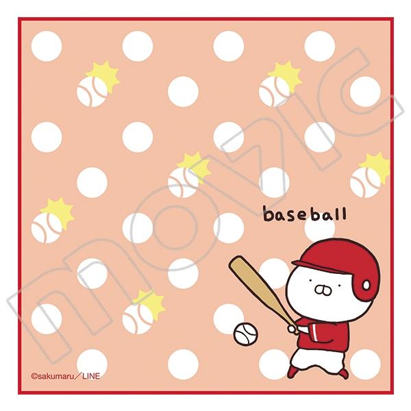 うさまる ハンカチタオル ベースボール