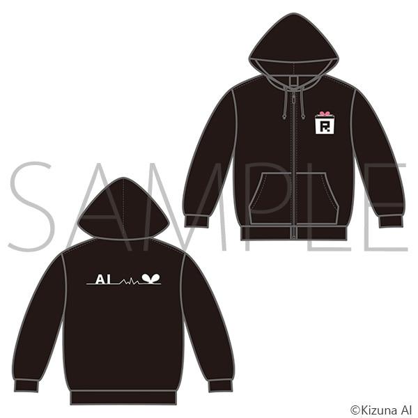 【A.I.Channel】 キズナアイ パーカー (ブラック) XL