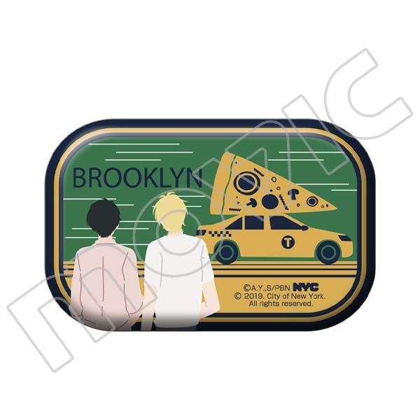 BANANA FISH 缶バッジ NYC BROOKLYN Taxi Pizza