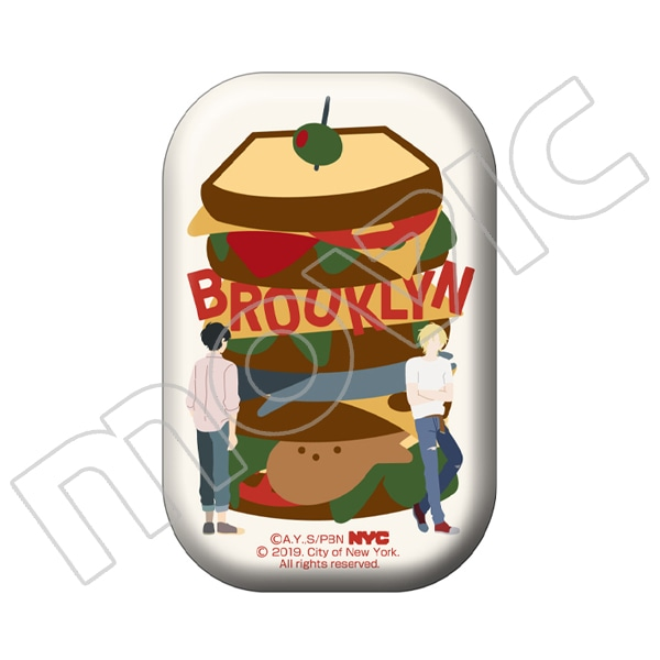 BANANA FISH 缶バッジ NYC BROOKLYN Sandwich