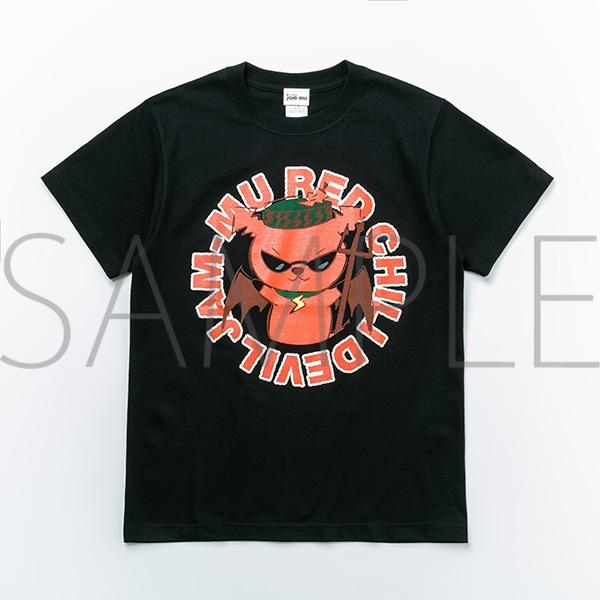 ジャムム レッチリTシャツ(サークル・黒)  Mサイズ