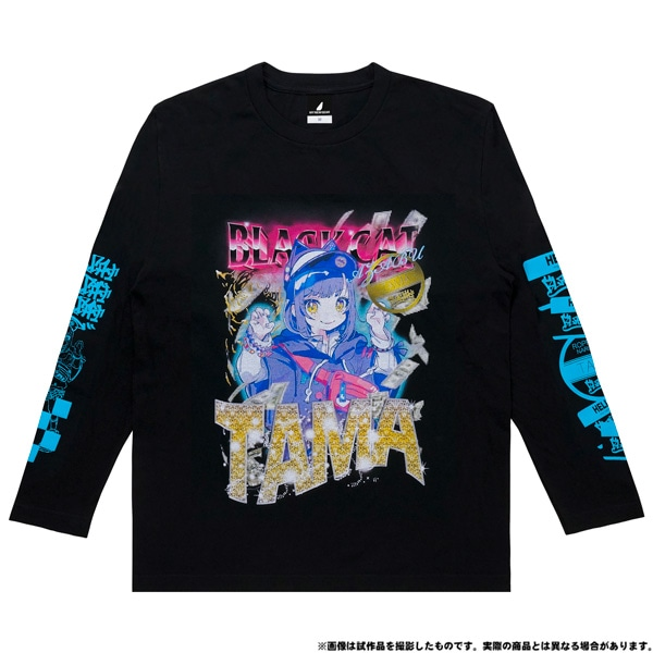 電音部 ーdenonbuー MNG × 電音部ロングTシャツ 黒鉄 たま L