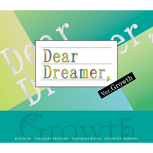 【CD】『Dear Dreamer,』 ver.Growth